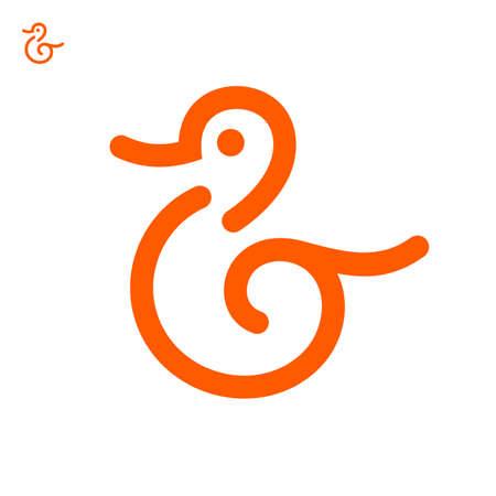 Duck icon, vector logo design template
