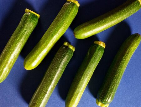 isolated: Close view of isolated courgettes