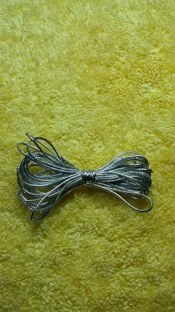 silver: Close view of decorative silver Christmas string