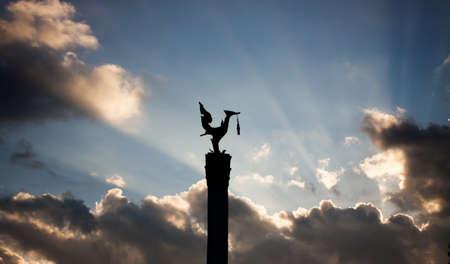 statuary: Sunlight behind statuary Stock Photo