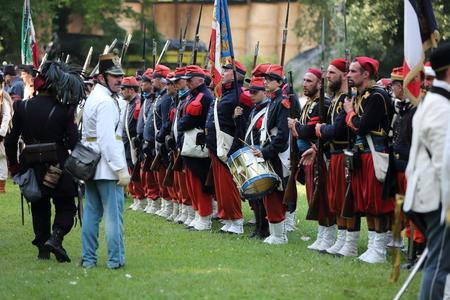 reenactment: Battle reenactment of San Martino and Solferino on 1859