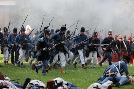 bayonet: Battle reenactment of San Martino and Solferino on 1859