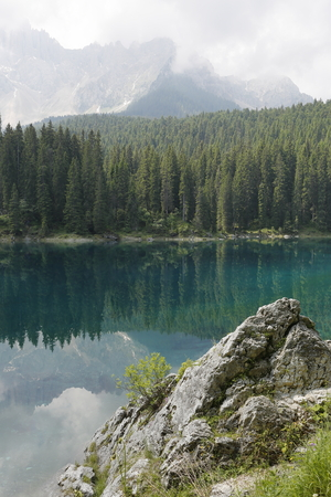 fondle: Lake in the mountains of the Dolomites