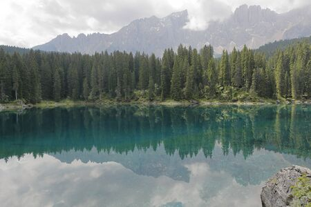 caress: Lake in the mountains of the Dolomites