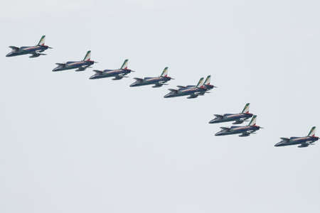 aerobatic: tricolor arrows aerobatic team - Port of Dusano- Lake Garda Italy