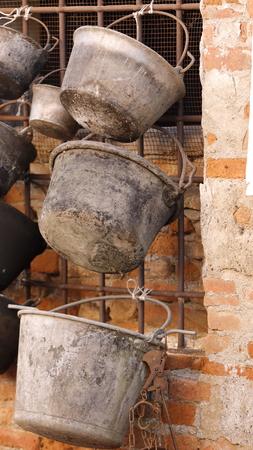 cookware: old metal cookware