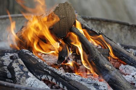 brazier: brazier burning Stock Photo