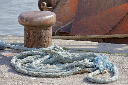 Mooring at the dock Stock Photo