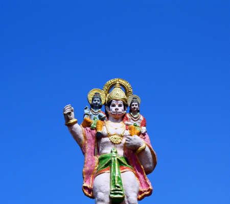 Lord Hanuman Carrying Lord Ram and Lord Laxman on Shoulders Stock Photo - 4484173