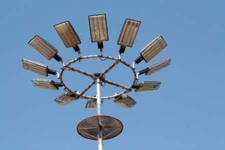 floodlights: Flood-Lights against blue sky