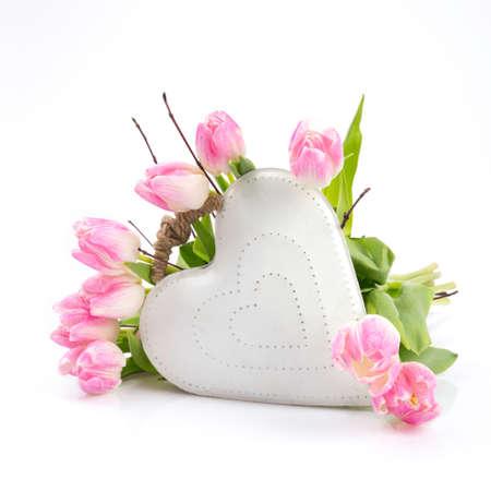 flowers white heart frame photo