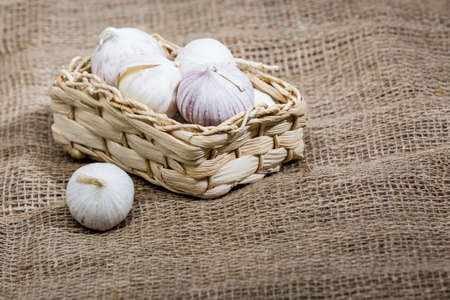 little garlics in little basket
