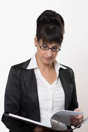 responsibly: the business lady is checked on