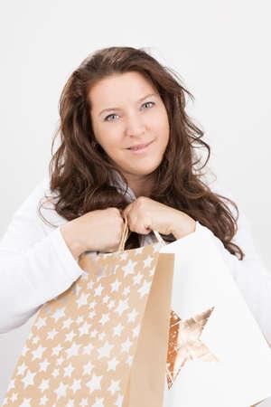 shoppings: woman making some shoppings
