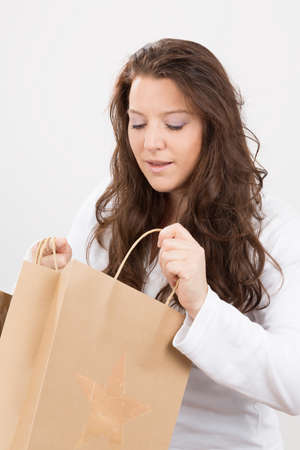 deliberately: happy about the shopping