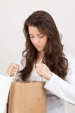 deliberately: checking the shopping