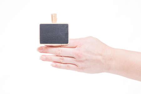 ide: little blackboard clamps on a finger