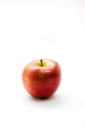 biologically: fresh biologically apple against white background