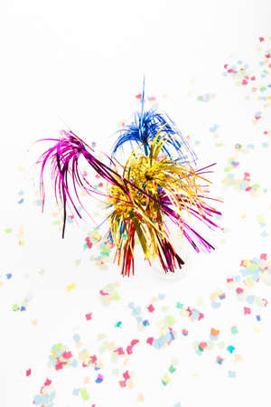 festiveness: party decoration with party pickers and confetti