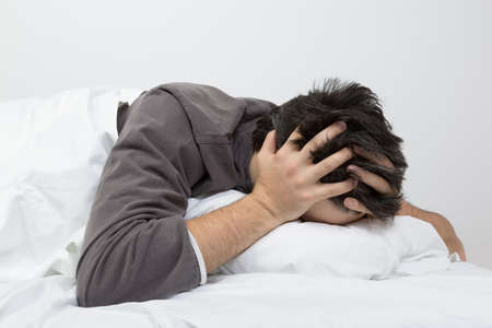 unhealthy thoughts: sleeptime - desperation Stock Photo