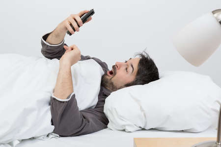 slumberous: alarmed by phone