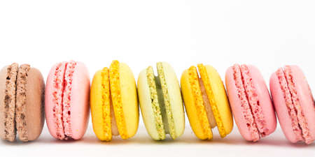 detail of macaroons Stock Photo
