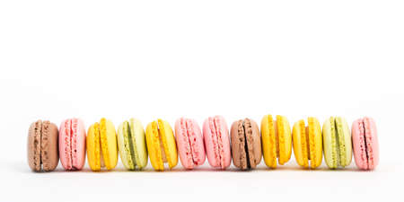 line of macaroons Stock Photo