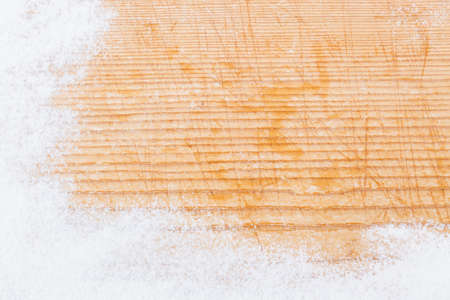 Baking with icing sugar or flour Stock Photo