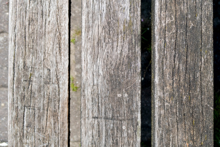 A surface of wooden boards in gege emsland germany photographed during a walk in the nature at a sunny day Stock Photo