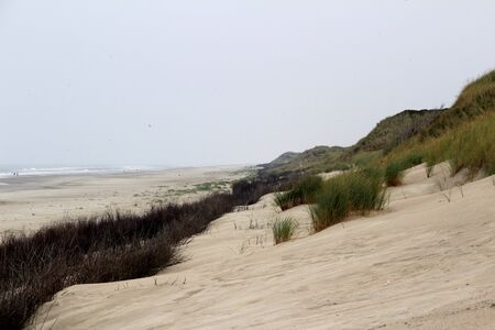 View on a sand dune and hill on the northern sea island Imagens