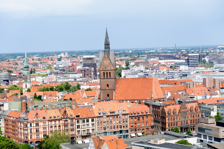 Closer view of the built structure and cityscape of hannover germany photographed during a walk at a cloudy sunny day