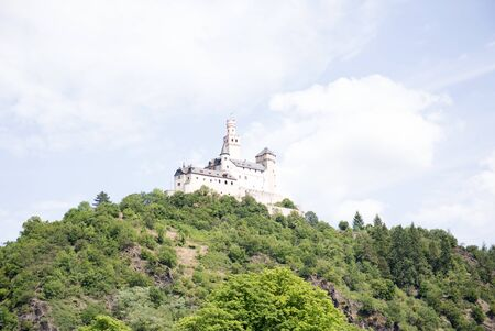 Closer view on the tower at the hill in koblenz germany Stockfoto - 133077367
