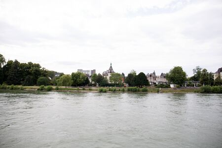 View on buildings at the rhine river near koblenz germany Stockfoto - 133077472