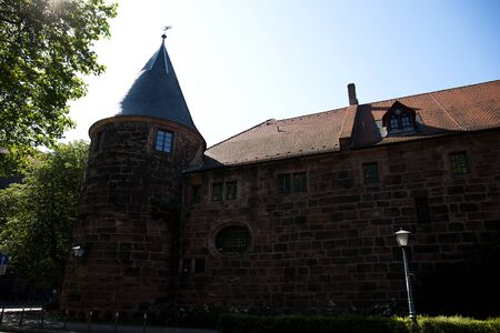 View on a historical building in heidelberg germany