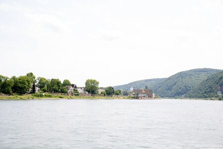 View on the natural landscape at the rhine river in Koblenz Germany
