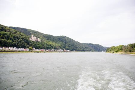 View along the rhine river in Koblenz Germany