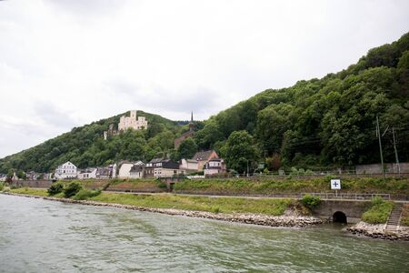 View on the buildings and the hills at the rhine riverbank in Koblenz Germany