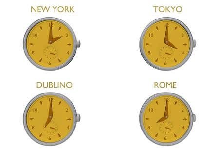 clock to world photo