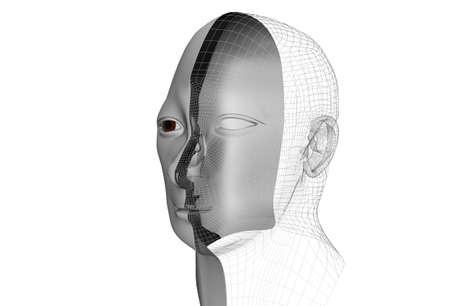 cybernetic: cybernetic man in 3d Stock Photo