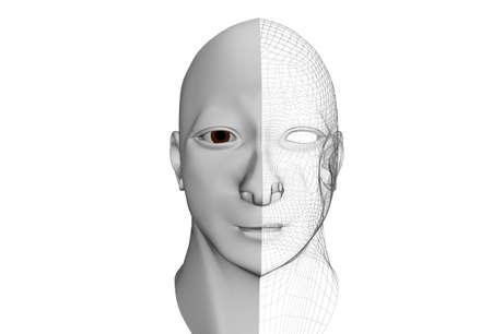prototype: face cybernetics robot prototype Stock Photo
