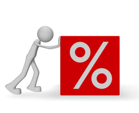 discount rate Stock Photo