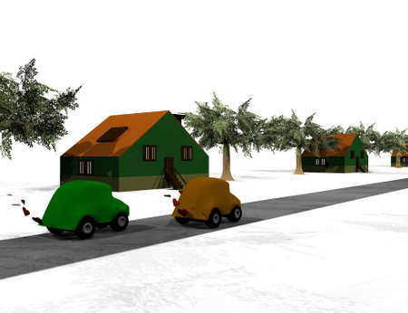 terraced houses photo