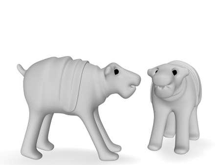 awkward: hippopotamus Stock Photo