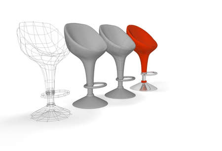 construction of a modern chair photo