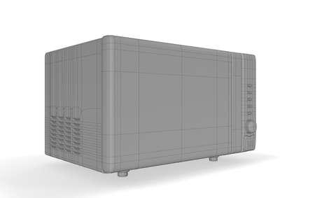 microwave oven: horno de microondas Foto de archivo