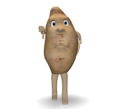 denial: potato denial Stock Photo