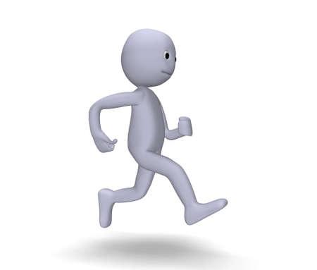 gait: 3d character running