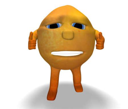 all right: orange okay Stock Photo
