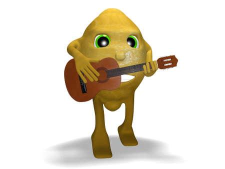 consent: lemon guitar so good Stock Photo