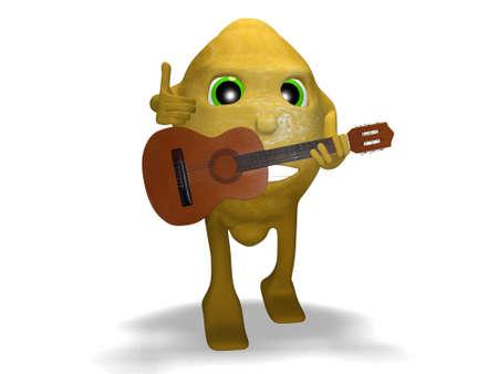 lemon guitar so good Stock Photo
